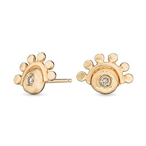 Amanda K Lockrow-14K Gold & Diamond Oriana stud earring golden dawn - champagne diamond