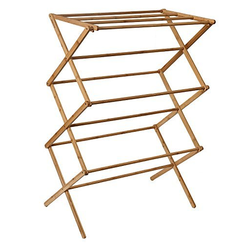 WELLAND-Bamboo Folding Clothes Drying Rack