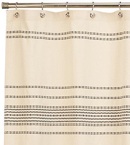Coyuchi Organic Rippled Stripe Shower Curtain