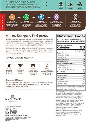 Navitas Organics-Organic Superfood Smoothie Blend - Cacoa + Greens