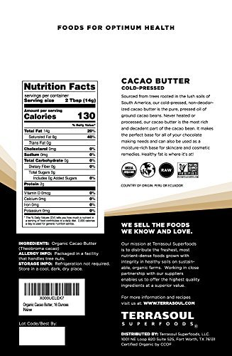Terrasoul Superfoods-Raw Organic Cacao Butter