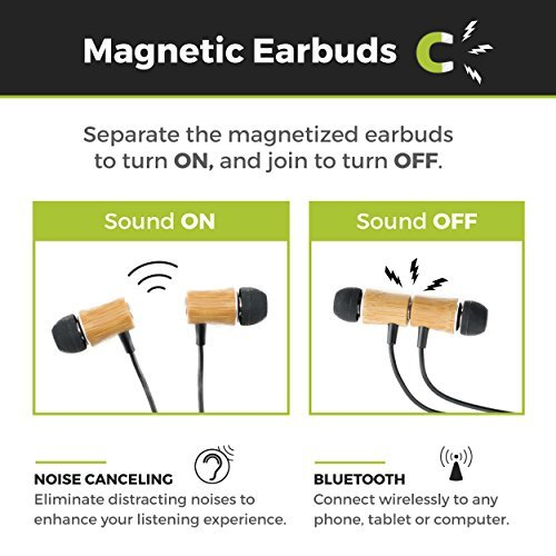Reveal-Magnetic Bamboo Wooden Bluetooth Headphones with Microphone