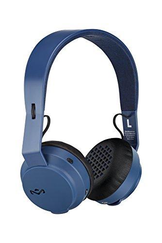 House of Marley-House of Marley EM-JH101-NV Rebel BT Bluetooth Headphones, Navy