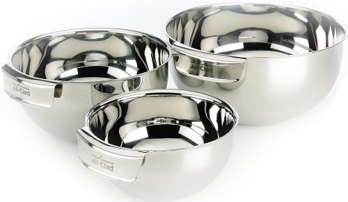 All-Clad-3-Piece Stainless Steel Dishwasher Safe Mixing Bowls Set Kitchen Accessorie