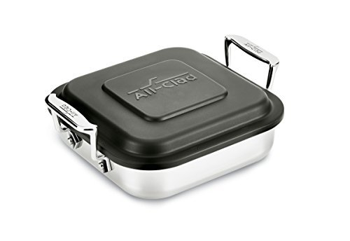 All-Clad-8-Inch Stainless Steel Square Baker w/ lid
