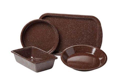 Granite Ware-4 Piece Set Better Browning Bakeware - Brown