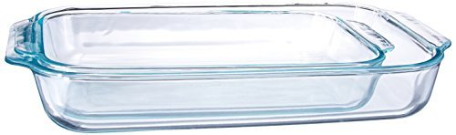 Pyrex-2 Piece  Clear Oblong Glass Baking Dishes