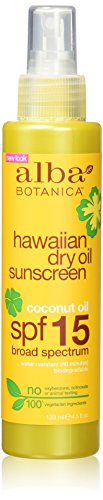 Alba Botanica-Hawaiian Coconut Dry Oil  Sunscreen SPF 15