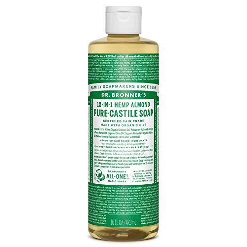 Dr. Bronner's-Hemp Almond Pure-Castile Soap