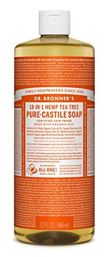 Dr. Bronner's-Dr. Bronner's Pure-Castile Liquid Soap - Tea Tree 32oz