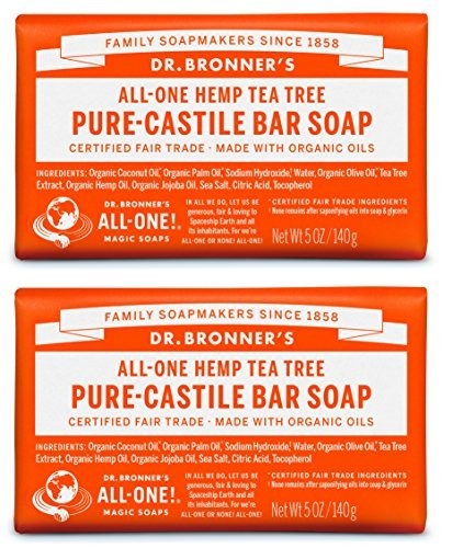 Dr. Bronner's-Tea Tree Pure-Castile Liquid Soap - 2 pack