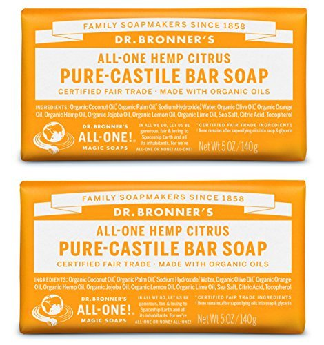 Dr. Bronner's-Citrus Pure-Castile Bar Soap - 2 pack