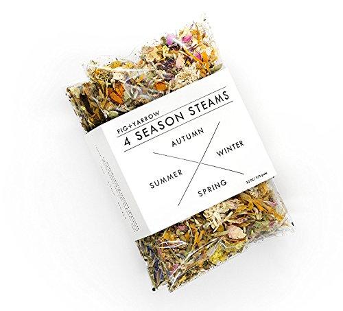 FIG+YARROW-Organic & Wildcrafted Herbal Facial Steam - 4 Season Sampler
