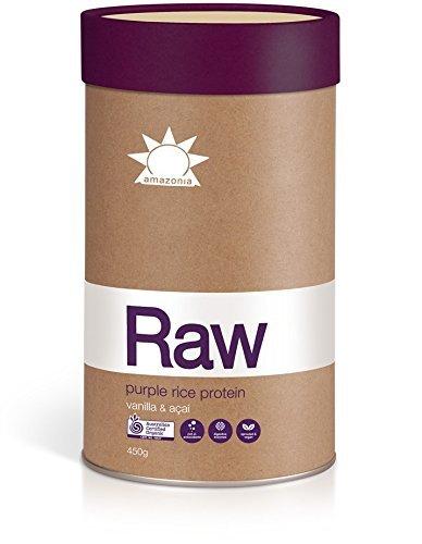 Amazonia-RAW AustralianVegan Organic Purple Rice Protein Vanilla & Acai - 450g