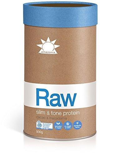 Amazonia-RAW Certified Organic Slim + Tone Protein - Cacao & Macadamia - 500g