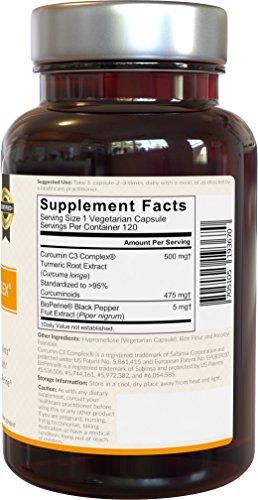 Viva Naturals-Turmeric Curcumin with Bioperine - 500 mg- 120 Vegetarian Capsules