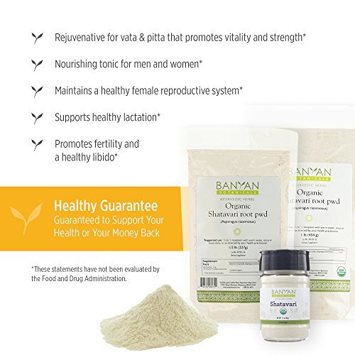 Banyan Botanicals-Organic Shatavari / Asparagus Racemosus Powder - 1/2 lb