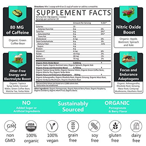 Ora Organic-Pre-Workout Supplement - Beet and Berry Flavor