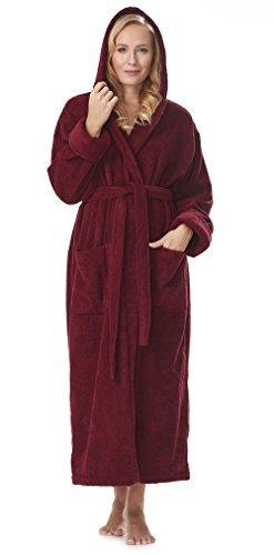 fd235d33a0 Arus Women s Organic Cotton Hooded Full Length Turkish Bathrobe by ...