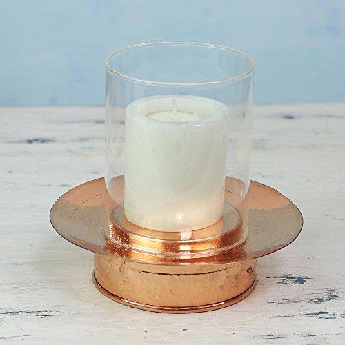 NOVICA-Decorative Glass Candle Holder