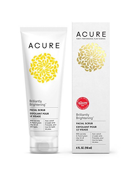 Acure-Brightening Facial Scrub, 4 Ounce