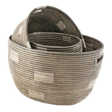 Connected Fair Trade Products-Nesting Handmade Woven Storage Basket Set