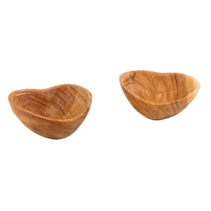 Connected Fair Trade Products-Wild Olive Wood Mini Heart Dish Set