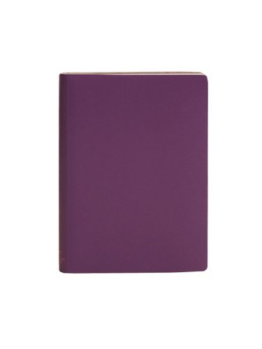 Paperthinks-Large Plain Recycled Leather Notebook, 4.5 x 6.5