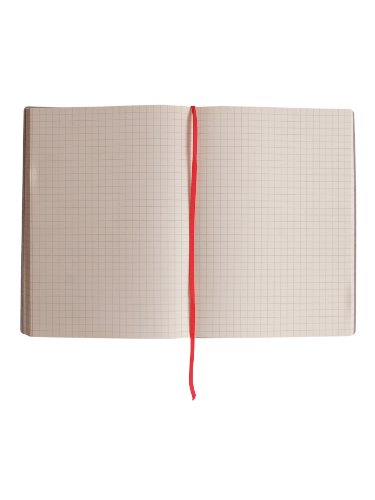 Paperthinks-Large Squared Recycled Leather Notebook, 4.5 x 6.5