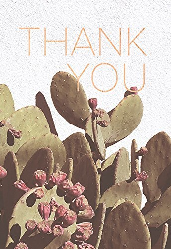 Lark Press-Prickly Pear Thank You Card, 3.5 X 4.7 (1)
