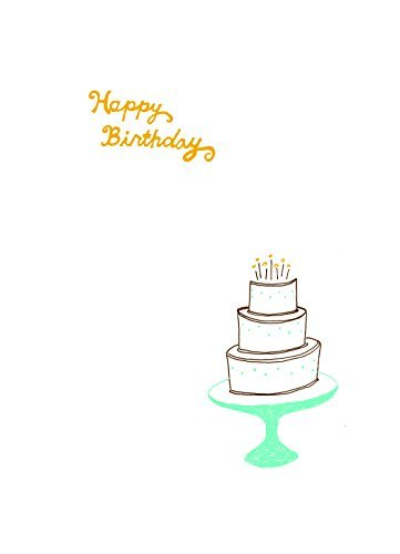 Lark Press-Layer Cake on a Stand Birthday Card, 3.5 X 4.75 (1)