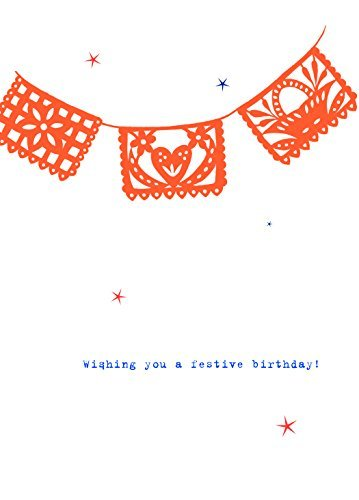 Lark Press-Wishing You A Festive Birthday Card, 3.5 X 4.75 (1)