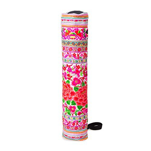 changnoi-Yoga Mat Bag with Hmong Hill Tribe Embroidered Fabric