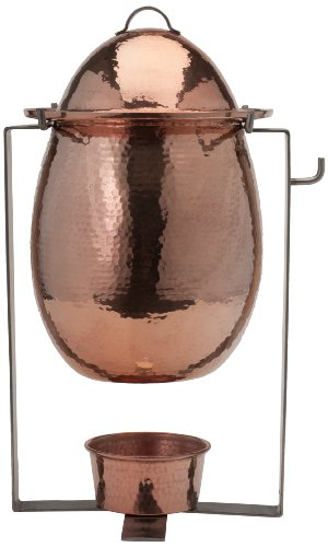 Sertodo Copper-Hand Hammered 100% Pure Copper, Delphi Sauce Marmite Chafer
