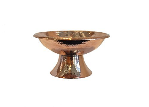 Sertodo Copper-Hand Hammered 100% Pure Copper, Frutera Large Centerpiece Fruit Display Bowl