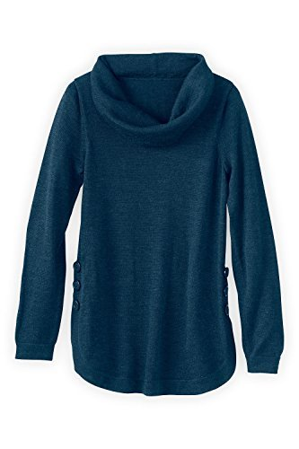 Fair Indigo-Alpaca Cowl Neck Sweater