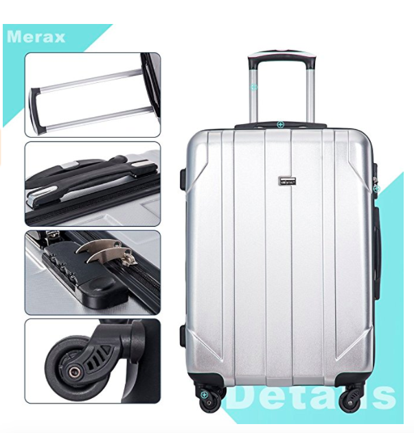 Merax-3 Piece Recycled PET/Plastic Rolling Luggage Set