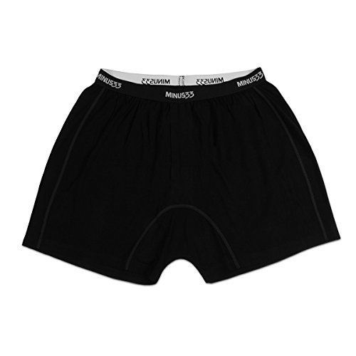 Misc Items-Minus33 Merino Wool 1114 Zion Men's Lightweight Boxer Black Medium