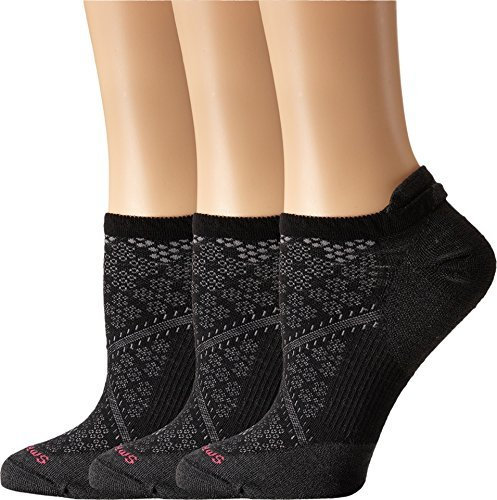 SmartWool-Smartwool Women's PhD Run Ultra Light Micro 3-Pair Pack Black Socks MD (Women's Shoe 7-9.5)
