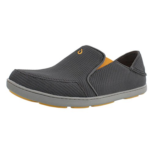 OLUKAI-OLUKAI Mens Nohea Mesh Dark Shadow Slip-On - 9