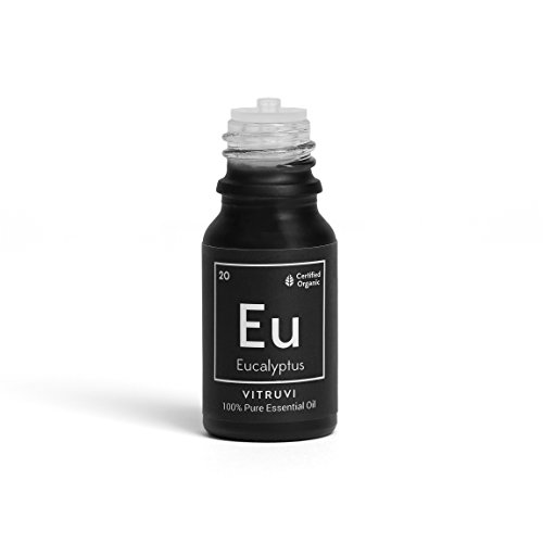 Vitruvi-Organic Eucalyptus Essential Oil, 100% Pure Undiluted Premium Grade Essential Oil
