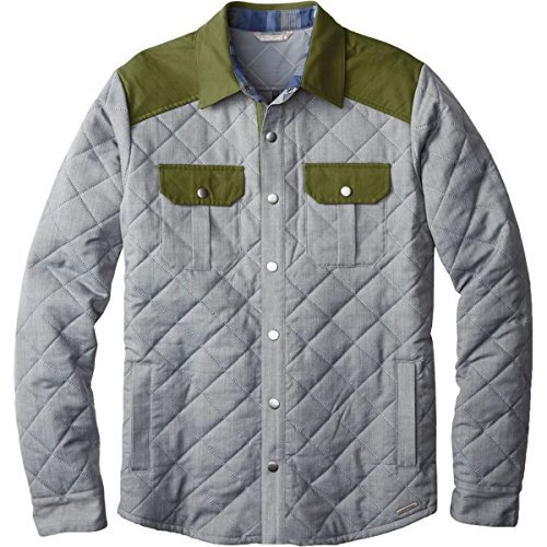 SmartWool-SmartWool Men's Summit County Quilted Shirt Jacket Light Gray Heather Outerwear 2XL