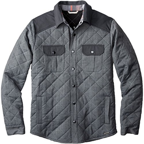 SmartWool-SmartWool Summit Country Quilted Shirt Jacket - Men's Charcoal Heather 2X-Large