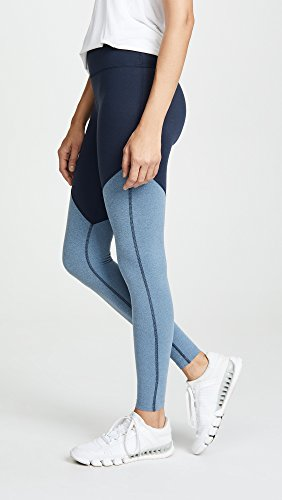Beyond Yoga-Plush High Waist Angled Midi Legging Nocturnal Navy
