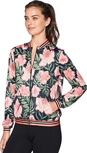 Beyond Yoga-True Stripe Bomber Jacket Protea Vine