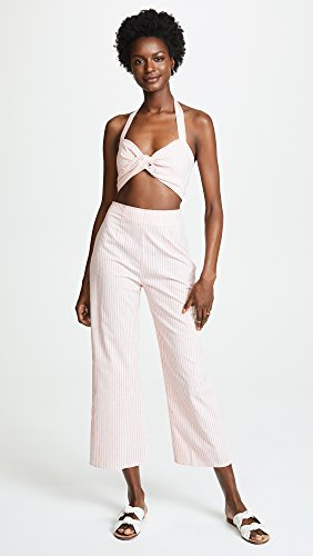 Flynn Skye-Chrissy Crop Top Rose Stripe