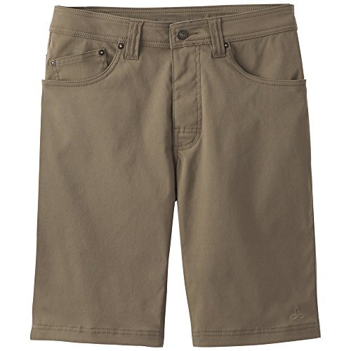 "prAna-prAna Men's Brion Short 11"""" Inseam, Mud, 40"