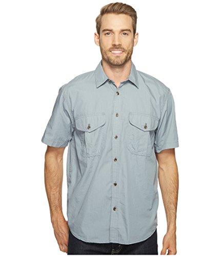 Filson-Filson  Men's Short Sleeve Feather Cloth Shirt Smoke Blue Button-up Shirt