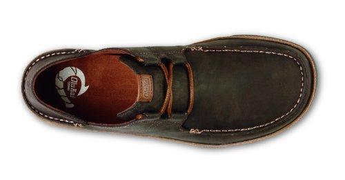 OLUKAI-OLUKAI Men's Ohana Lace-Up Nubuck Moc Toe Shoe,Dark Wood/Toffee Nubuck,US 7 M
