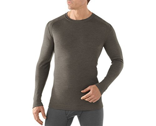 SmartWool-Smartwool Men's NTS Mid 250 Crew Top Light Grey Heather T-Shirt MD